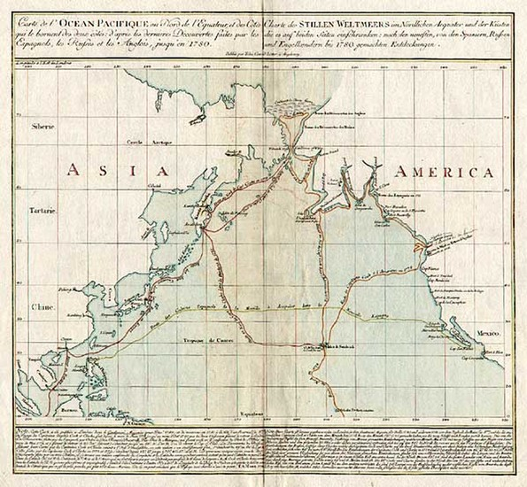 45-World, Alaska, Hawaii and Pacific Map By Tobias Conrad Lotter