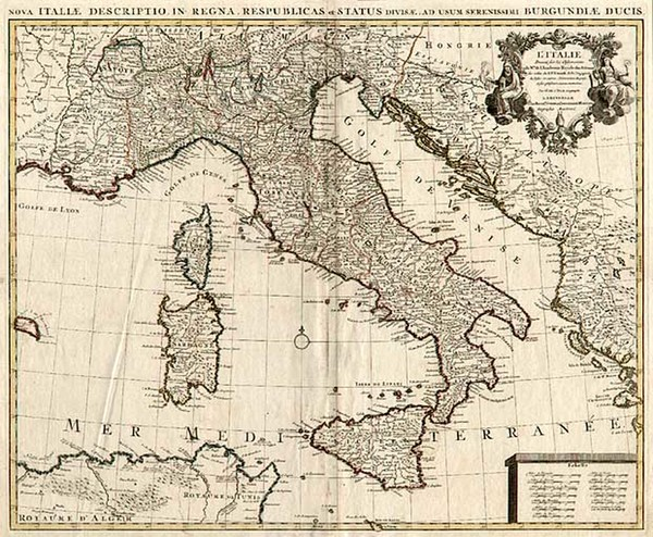 86-Europe and Italy Map By Johannes Covens  &  Cornelis Mortier