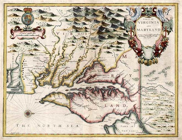 1-Mid-Atlantic and Southeast Map By John Speed