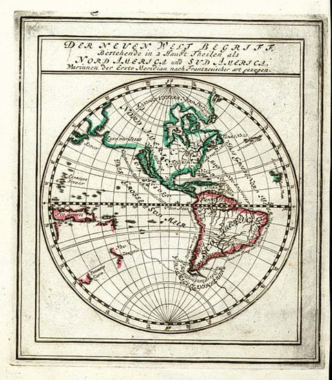73-World, Western Hemisphere, South America and America Map By Gabriel Bodenehr