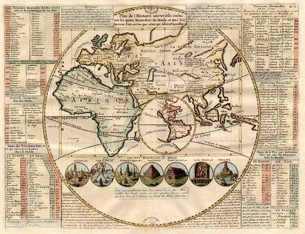 17-World, World, Eastern Hemisphere, South America, California and America Map By Henri Chatelain