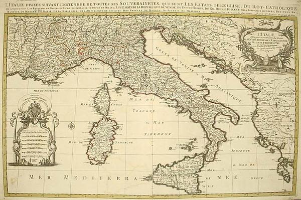 83-Europe, Balkans, Italy, Mediterranean and Balearic Islands Map By Alexis-Hubert Jaillot