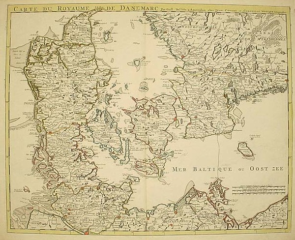 46-Europe and Scandinavia Map By Johannes Covens  &  Pieter Mortier