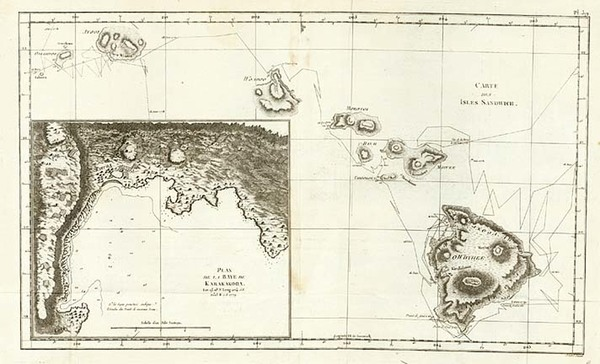 81-Hawaii, Australia & Oceania and Hawaii Map By James Cook