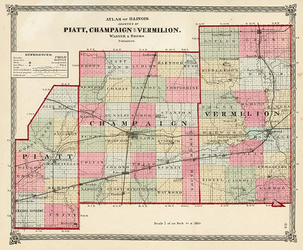 2-Midwest Map By Warner & Beers