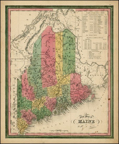 55-New England and Maine Map By Henry Schenk Tanner