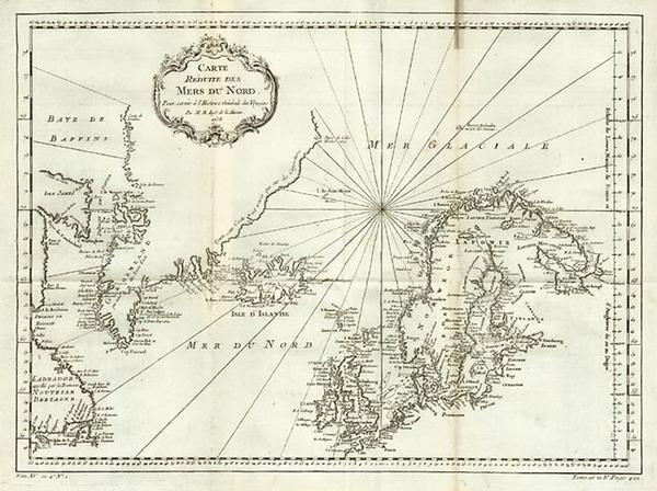 43-World, Atlantic Ocean, Europe, British Isles, Scandinavia and Balearic Islands Map By Jacques N