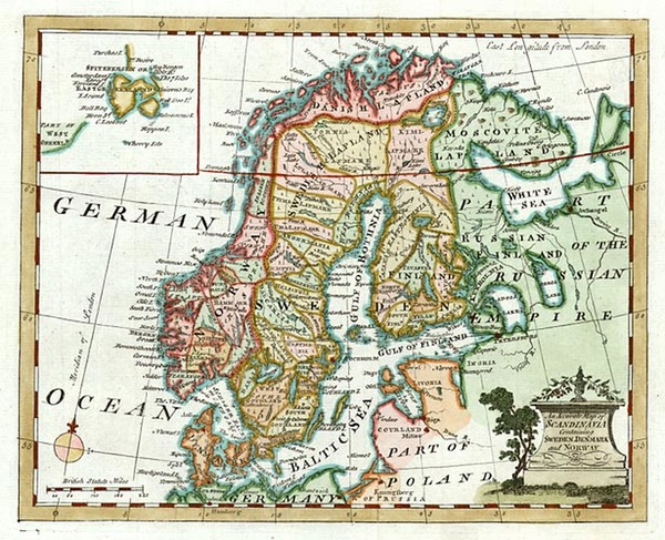 15-Europe, Baltic Countries and Scandinavia Map By William Guthrie
