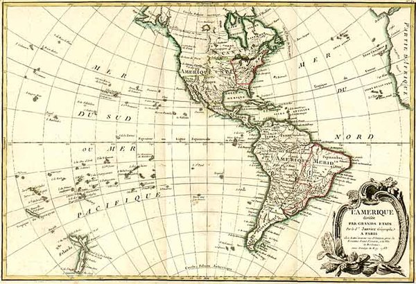 84-South America and America Map By Jean Janvier  &  Giovanni Antonio Rizzi-Zannoni