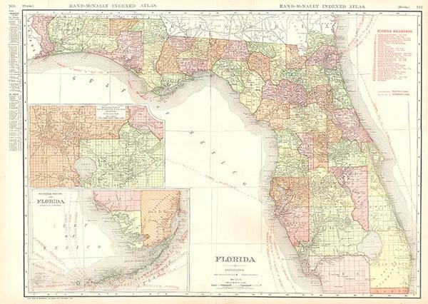 81-Southeast Map By Rand McNally & Company