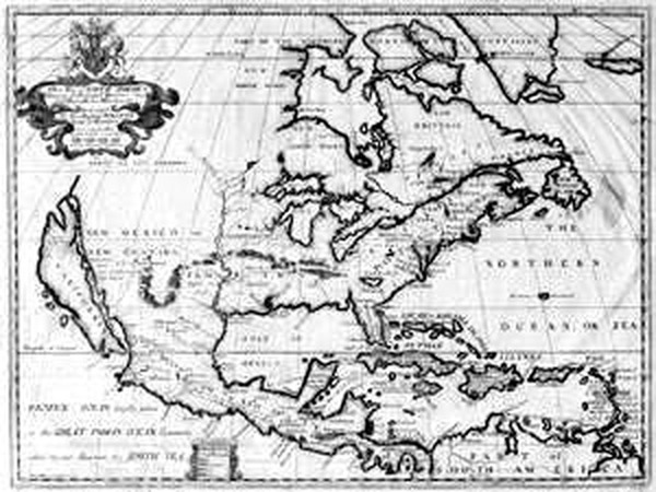 28-North America and California Map By Edward Wells