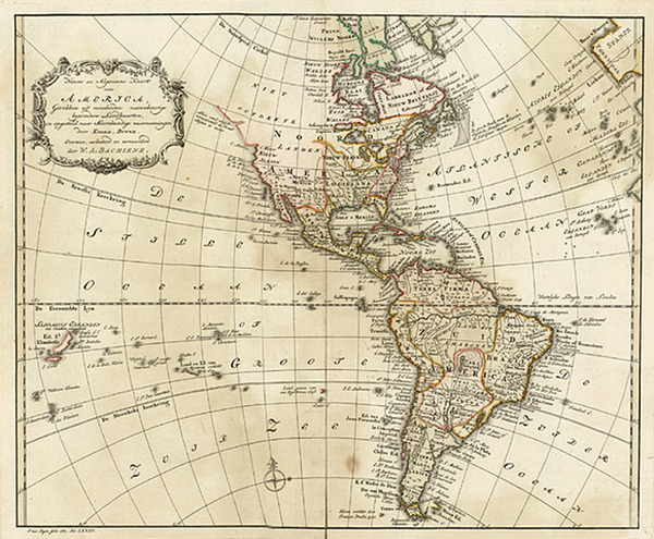 15-South America and America Map By Willem Albert Bachienne