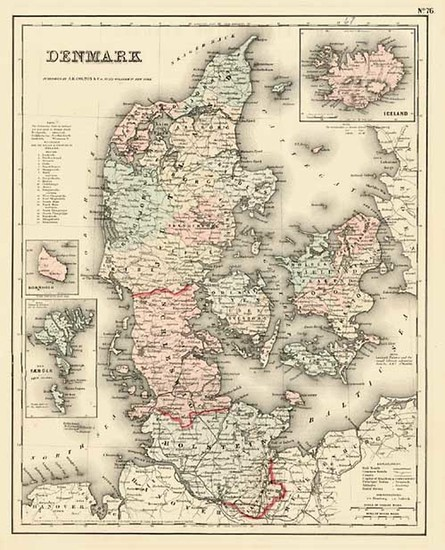 50-Scandinavia Map By Joseph Hutchins Colton