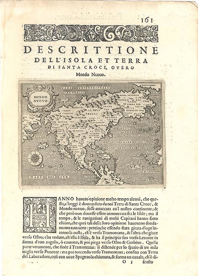 38-World, Western Hemisphere, North America, South America and America Map By Tomasso Porcacchi