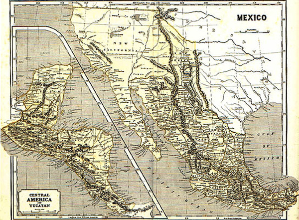 84-Southwest, Mexico, Central America and California Map By Sidney Morse  &  Samuel Breese