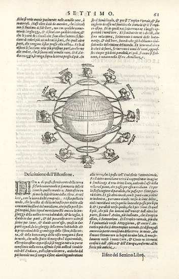 45-World, World, Curiosities and Celestial Maps Map By Giovanni Antonio Magini