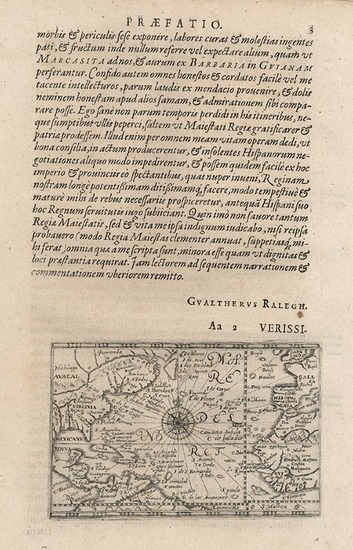 32-World, Atlantic Ocean, United States and North America Map By Theodor De Bry