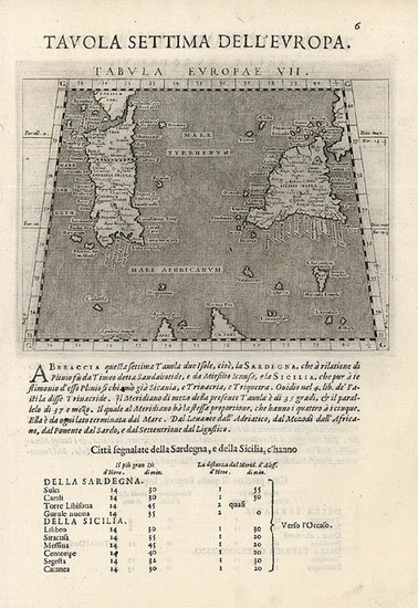 59-Europe, France, Italy, Mediterranean and Balearic Islands Map By Giovanni Antonio Magini