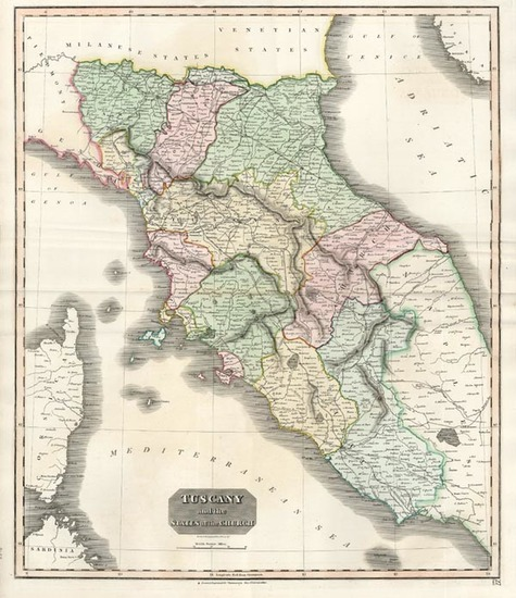 28-Europe, Italy and Balearic Islands Map By John Thomson