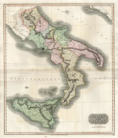 98-Europe, Italy and Balearic Islands Map By John Thomson