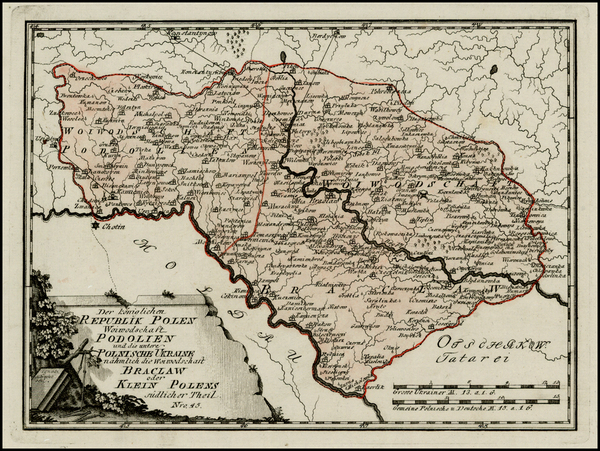 84-Ukraine Map By Franz Johann Joseph von Reilly