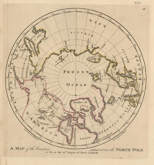 76-World, Polar Maps, Alaska and Canada Map By