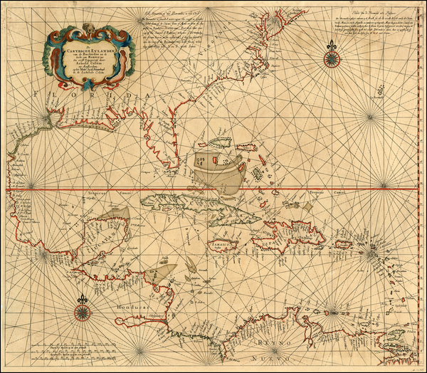 96-South, Southeast, Caribbean and Central America Map By Arnold Colom