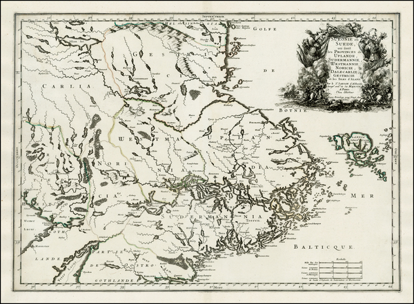 16-Scandinavia Map By Nicolas Sanson