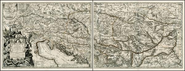 71-Germany, Austria, Poland, Ukraine, Hungary, Romania, Balkans and Italy Map By Vincenzo Maria Co
