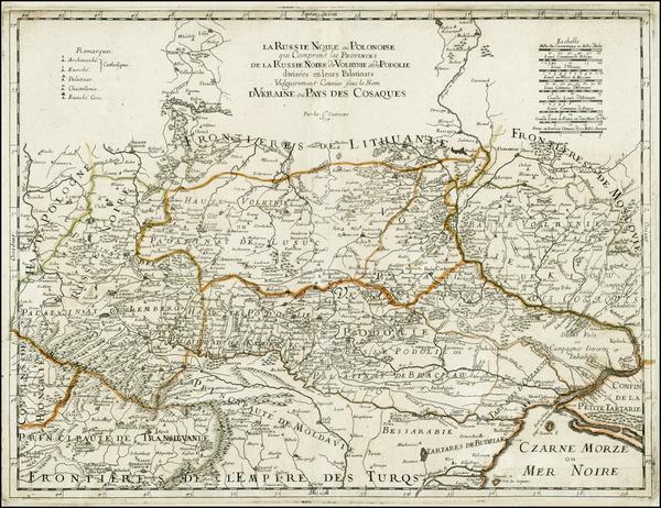 45-Poland, Russia and Ukraine Map By Nicolas Sanson