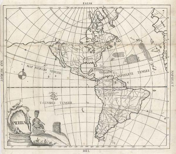 25-World, Western Hemisphere, South America and America Map By Bod