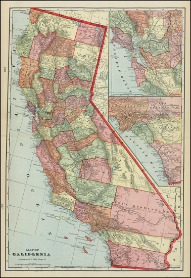 32-California Map By George F. Cram