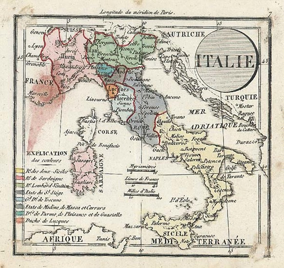 77-Europe and Italy Map By Denisle-Tardieu