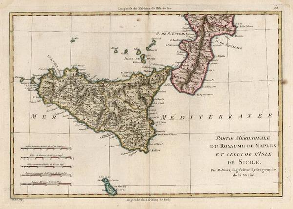67-Europe, Italy and Balearic Islands Map By Rigobert Bonne