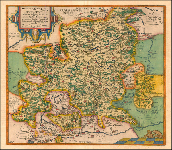 14-Europe and Germany Map By Abraham Ortelius
