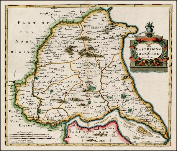 21-British Counties Map By Robert Morden