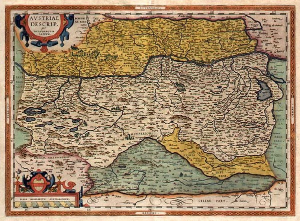 5-Europe, Austria and Balkans Map By Abraham Ortelius