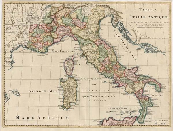 5-Europe, Italy, Mediterranean and Balearic Islands Map By John Blair