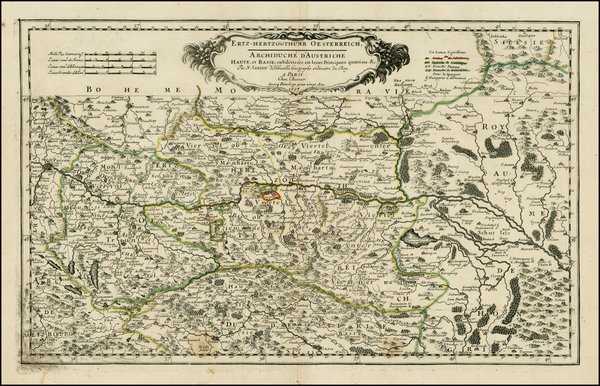 15-Austria Map By Nicolas Sanson