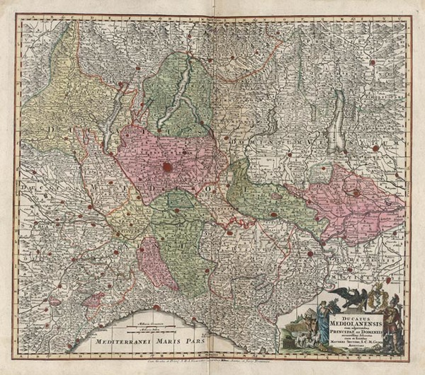 18-Europe and Italy Map By Matthaus Seutter