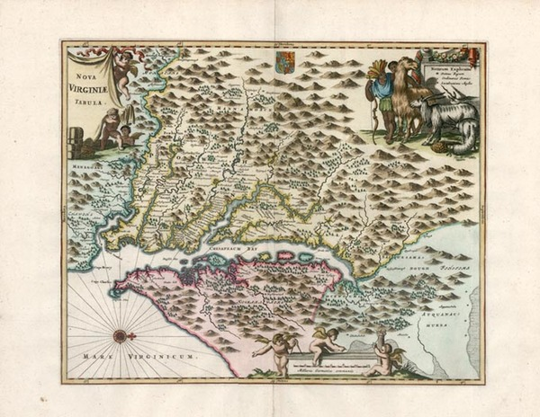 76-Mid-Atlantic and Southeast Map By John Ogilby