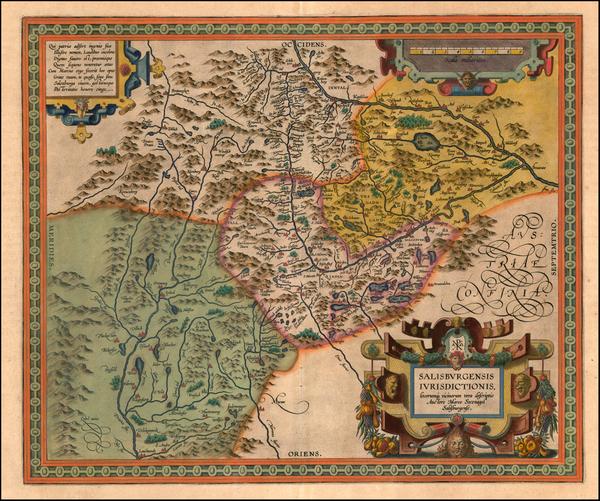 62-Austria Map By Abraham Ortelius