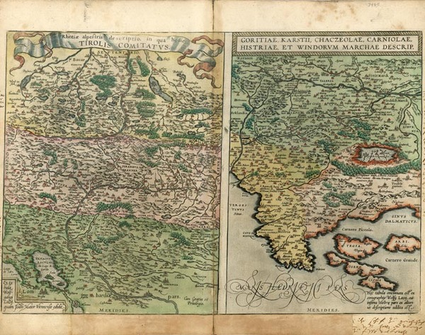 98-Europe, Austria, Balkans and Italy Map By Abraham Ortelius