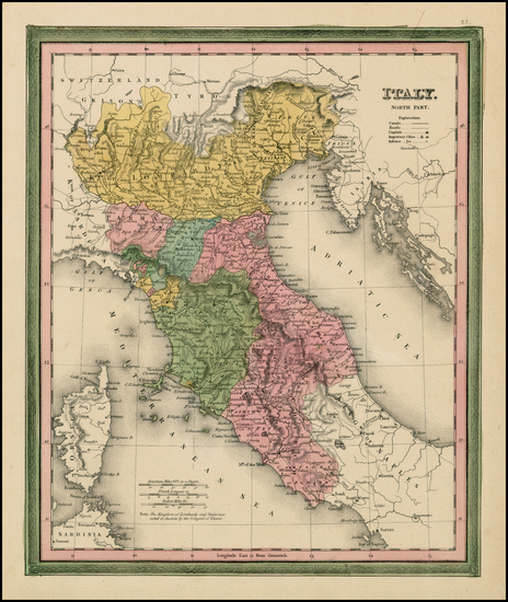 42-Europe and Italy Map By Henry Schenk Tanner