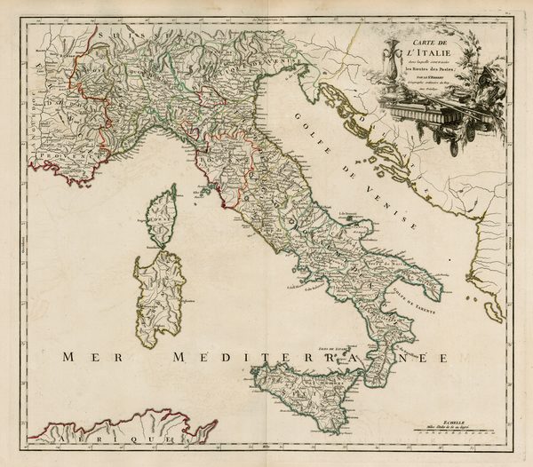 30-Switzerland, France, Italy and Balearic Islands Map By Didier Robert de Vaugondy