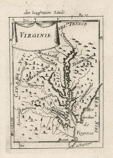 44-Mid-Atlantic and Southeast Map By Alain Manesson Mallet