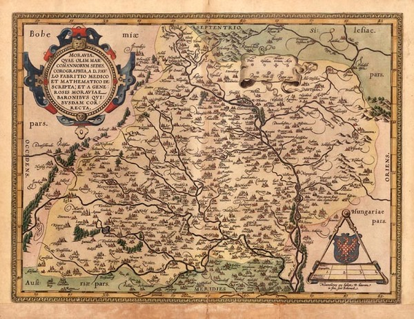 38-Europe, Germany and Czech Republic & Slovakia Map By Abraham Ortelius