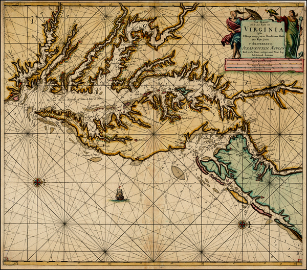 3-Mid-Atlantic and Southeast Map By Johannes Van Keulen