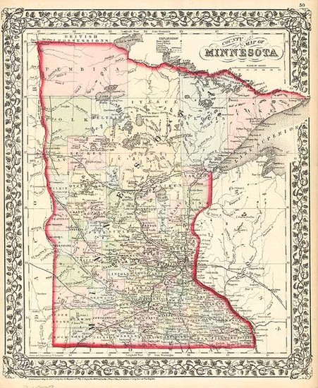 95-Midwest Map By Samuel Augustus Mitchell Jr.