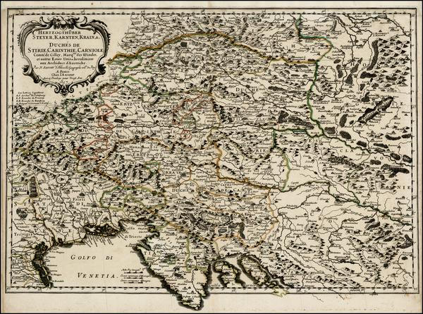 82-Austria and Balkans Map By Nicolas Sanson